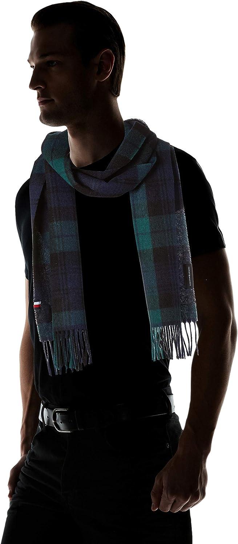 Tommy Hilfiger Uptown Wool Scarf Check Set di Accessori Invernali Uomo