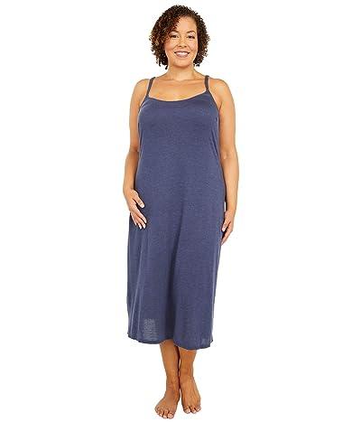 Natori Plus Size Shangri-La Gown (Heather Night Blue) Women