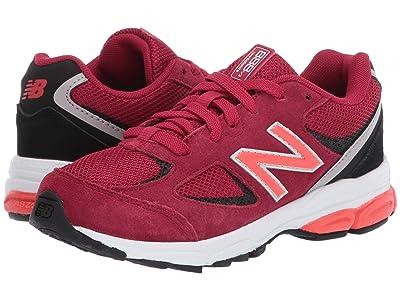 New Balance Kids PK888v2 (Little Kid) (New Crimson/Black) Boys Shoes
