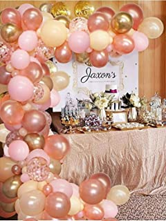 121 Pieces Rose Gold Balloons Decorations for Birthday Party Balloon Garland Arch Kit, Rose Gold Party Supplies Decoration...