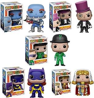Pop! Heroes: Batman Classic TV CHASE Set: The Penguin, Mr Freeze, Batgirl, King Tut AND The Riddler CHASE VARIANT Vinyl Figures Set of 5