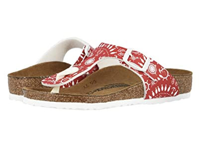 Birkenstock Kids Gizeh (Little Kid/Big Kid) (Nautical Print/Red) Girls Shoes
