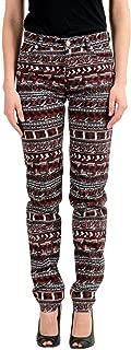 Versus Women's Multi-Color Stretch Straight Leg Jeans Sz...