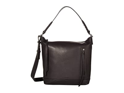 AllSaints Shirley Zip Crossbody (Black) Handbags