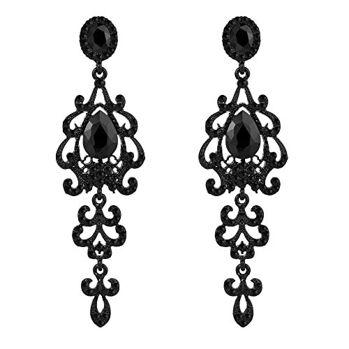 Zest Antique Style Swarovski Crystal Chandelier Pierced Earrings