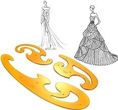 iFCOW 3 Stks Franse Curve Template Heerser Set, Kleding Tekening Sjablonen Tailor Fashion Design Tekening Ontwerp Tool Ste...