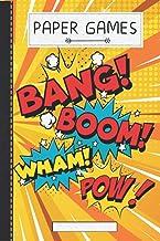 Bang Boom Pow Wham Comic: Ready to Play Paper Games | Comic / Hangman, Tic Tac Toe, Four In A Row, Battleships ( 6 x 9 inc...