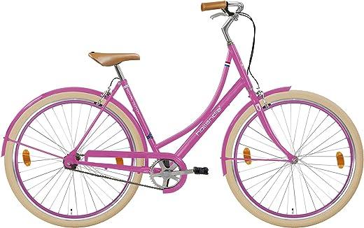 Hollandia Erwachsene RoyalDutch DreamMachine SingleSpeed Hollandrad Fashionbike, Hard pink, 28 Zoll