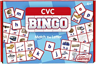 Junior Learning CVC Bingo Educational Action Games, Multi, Model:JL544