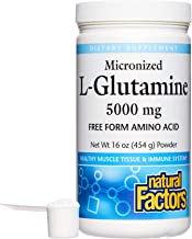 Natural Factors, Micronized L-Glutamine Drink Mix 5000 mg, Supports Healthy Muscle Tissue and Immune System Function, 16 o...