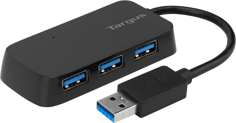 Targus 4-Port USB 3.0 Hub (ACH124US),Black