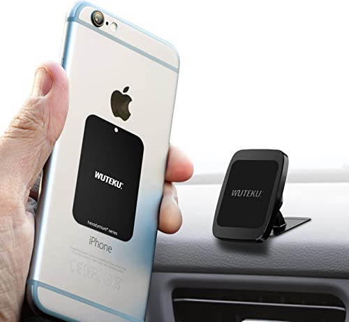 Wuteku Magnetic Car Dash Mount Compatible Any Phone - Heavy Duty Adjustable Mounting System