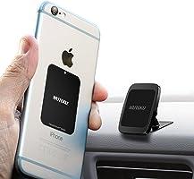 Kit de soporte magnético para teléfono celular para automóvil WUTEKU | Funciona en todos los vehículos, teléfonos y...