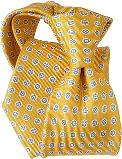 [ステファノ ビジ] ネクタイ ビジネス ブランド イタリア製 シルク メンズ おしゃれ 小紋 プリント イエロー