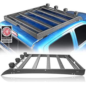 Hooke Road Tacoma Top Roof Rack Cargo Carrier w/4x18W LED Lights for 2/3 Gen Tacoma 2005-2021 (4-Doors only)
