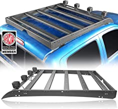 Hooke Road Top Roof Rack Cargo Carrier w/4x LED Lights for Toyota 2/3 Gen Tacoma 2005-2019 (4-Doors only)