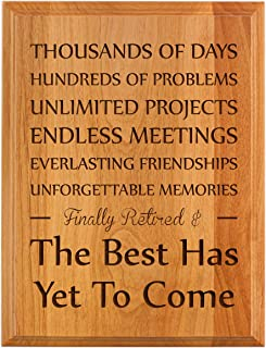 Retirement Gifts for Women or Men Retirement Finally Retired Best Has Yet to Come Retirement Gift Ideas for Coworker 7x9 Oak Wood Engraved Plaque Wood