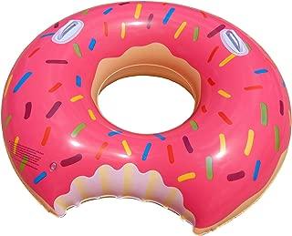 ドーナツ型 浮き輪 取っ手 付き 100cm アメリカンな ストロベリー ドーナツフロート 大人 うきわ 浮輪 ピンク (100cm)