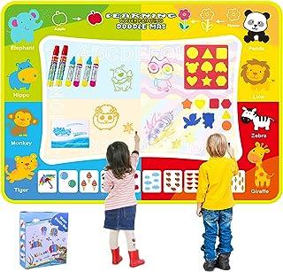 OMEW Tapis Dessin Tapis de griffonnage Tapis bébé 120*90 CM Eau Magique coloré Enfants Peinture Écriture Mat Jouets Educat...