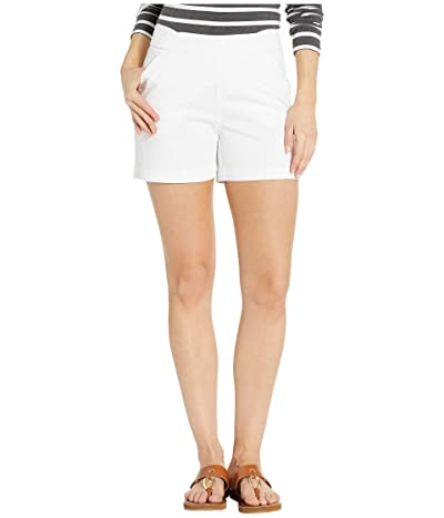 Jag Jeans 5 Gracie Pull-On Shorts in Twill (White) Women