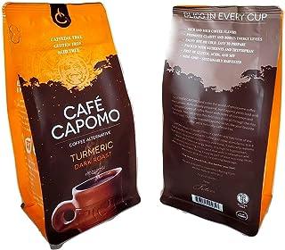 Cafe Capomo With Turmeric - Herbal Coffee Alternative Caffeine Free, Dark Roast - Maya Nut - Non GMO, Eco Friendly 11 oz. ...