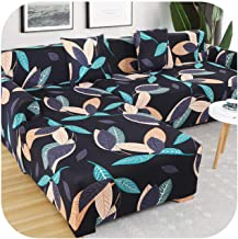 L Shape Corner Sofa Cover Elastic for Living Room Printed Cover for Sofa Slipcovers Stretch 1/2/3/4 Seat Color 10 Four-seat 235-300cm