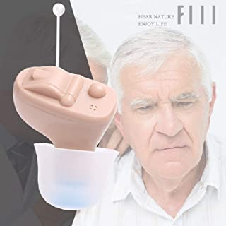Digital Hearing Amplifier Personal Hearing Enhancement in-The-Canel(ITC) Sound Amplifier by FIIL with Portable Storage Box, 3 Durable Batteries, 3 Size Domes x 2, Cleaner Brush(Left Ear)