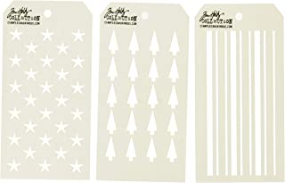 Stampers Anonymous THS115 LayerStencil TH Falling Stars