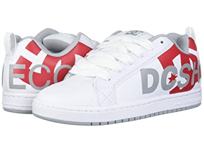 DC Court Graffik SE (White/Red/Grey) Men