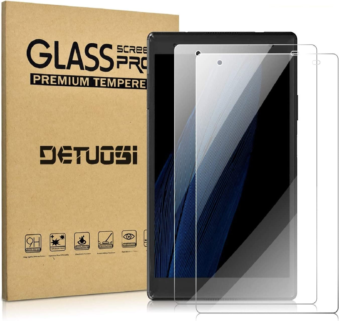 DETUOSI [2 Pack] Screen Protector Compatible with Lenovo Tab 4 8