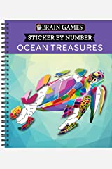 Brain Games - Sticker by Number: Ocean Treasures Spiral-bound