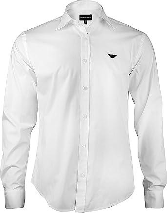 Camisa Armani hombre Slim Fit Business, camisa manga larga con botones y cuello Kent. Su comodidad proporciona un aspecto impecable y relajado a la ...