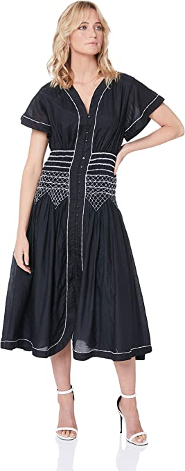 LOVER Women's Sofia Embroided MIDI Dress