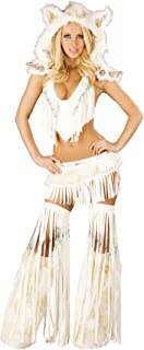 Women's White Indian Beaded Skirt and Top