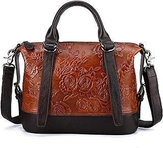 AIYAMAYA Multiple Pocket Mens Messenger Shoulder Bag Vintage Leather Briefcase Crossbody Day Bag for School and Work Color : Photo Color