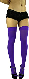 purple thigh high socks