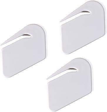 Letter Opener Envelope Slitter,Plastic Razor Blade Paper Knife,White,3 Pack
