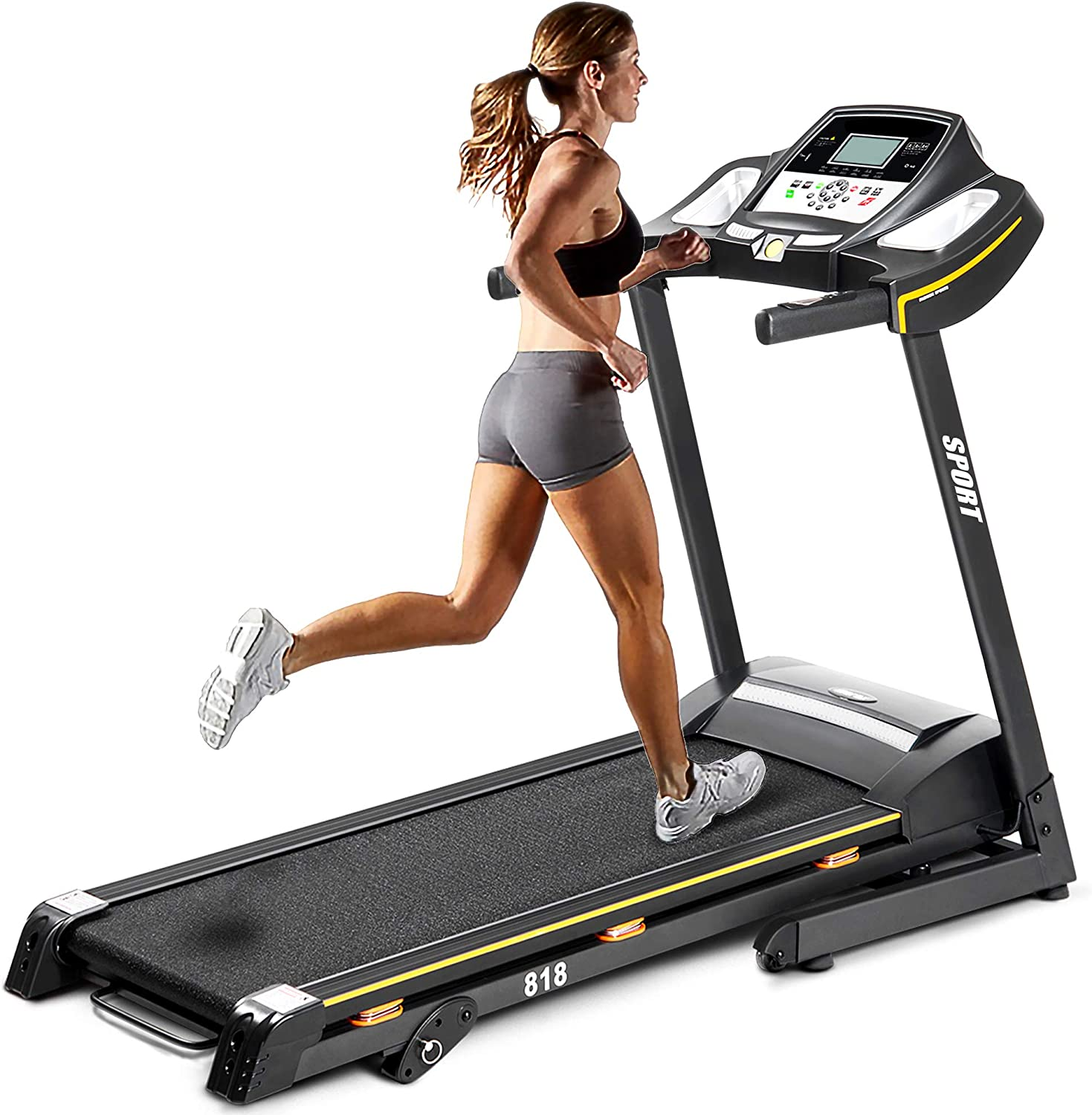 ZHC Folding Dealing full price price reduction Electric Treadmill Motorized with Machine Ma Running