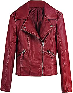 C/&H Men Fleece Faux-Leather Thick Single Breasted Winter Parka Coat Jacket