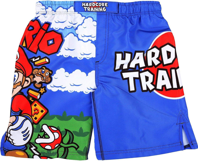 Hardcore Training MMArio Kids Boxing Shorts MMA BJJ Fitness Running Workout Exercise Sport Clothing No Gi