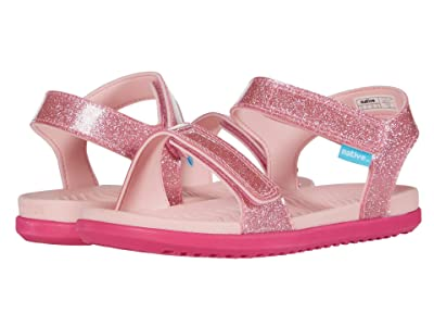 Native Kids Shoes Charley Glitter (Little Kid) (Princess Pink Glitter/Hollywood Pink) Girl