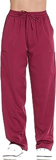 Just Love Pantalones médicos elásticos sólidos para mujer