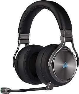 Corsair Virtuoso RGB Wireless SE High-Fidelity Gaming Headset, 7.1 Surround Sound, Broadcast-Grade Omni-Directional Microp...