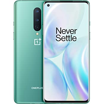 OnePlus 8 (5G) Dual-SIM IN2013 256GB/12GB RAM (GSM + CDMA) Factory Unlocked Android Smartphone (Glacial Green)- International Version