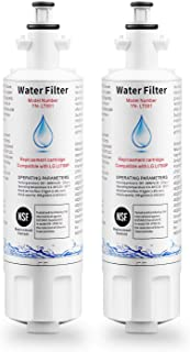 DROPPIC Refrigerator Water Filter Replacement Cartridge Compatible with LG LT700P, ADQ36006101,ADQ36006102, and Kenmore 9690,46-9690 (2 PACK)