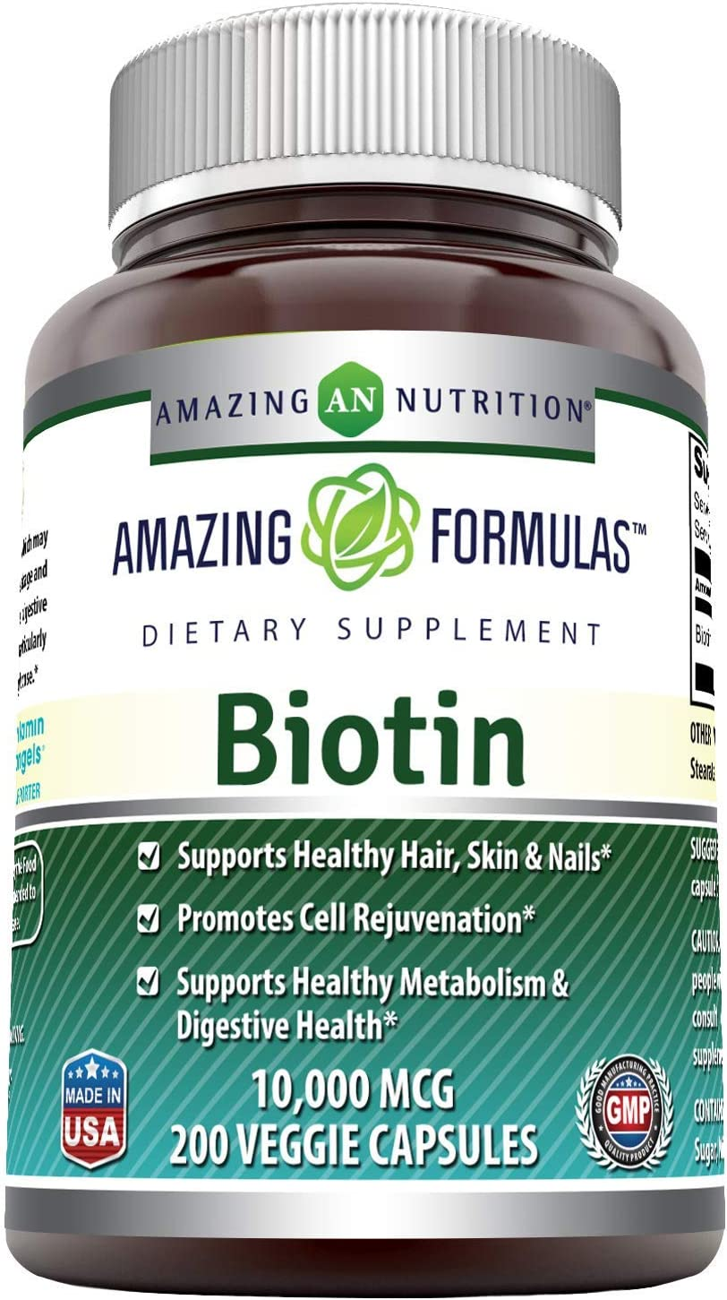 Amazing At the price of surprise Formulas Biotin Supplement - 10 200 Veggie Indianapolis Mall 000mcg Caps