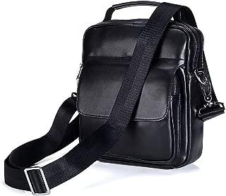 Men's Genuine Leather Cowhide Vintage Messenger Bag Shoulder Bag Work Satchel
