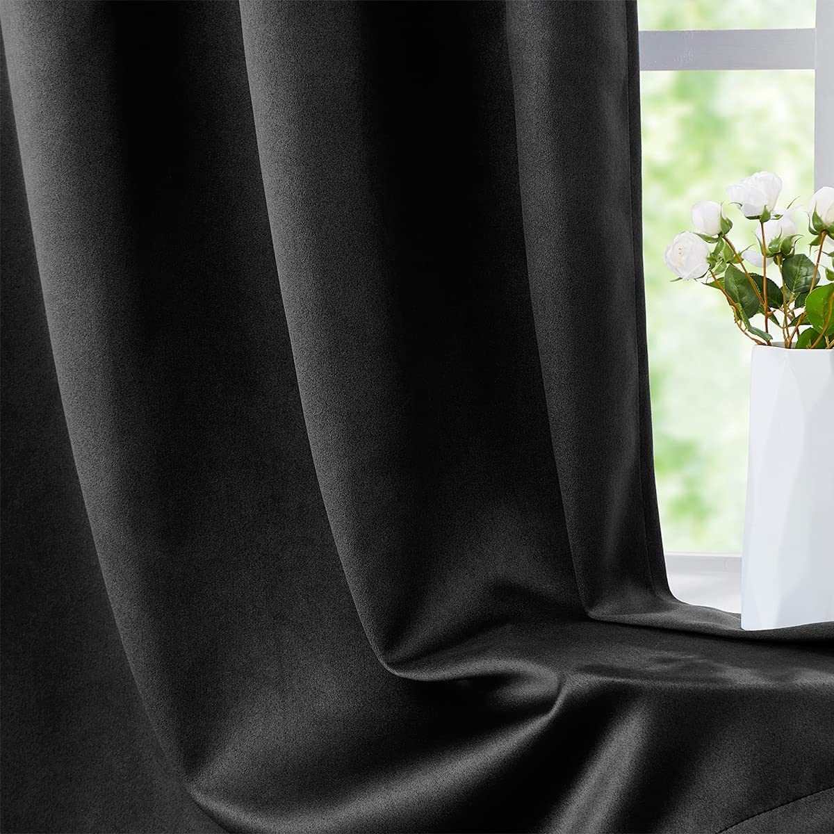 FMFUNCTEX 100% Full Blackout Curtain Black Panels Bedroom Super sale period limited for Surprise price Wi