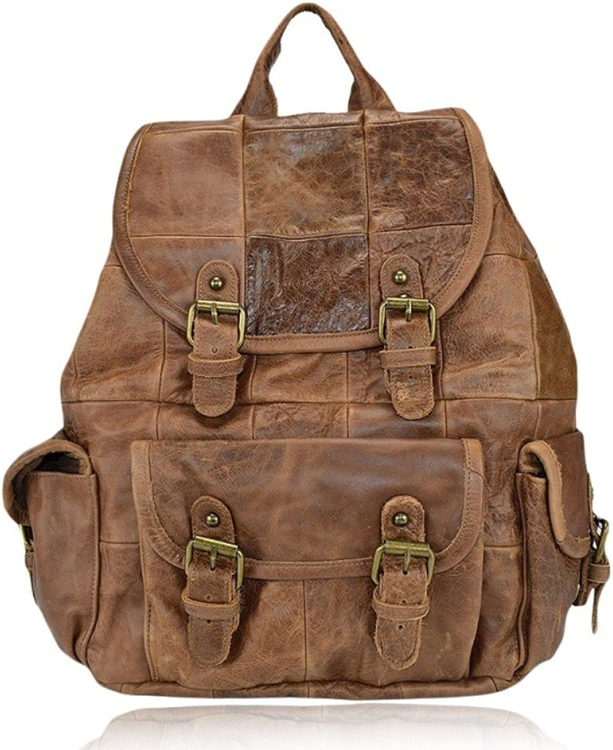 Genuine Leather Backpack Vintage Man Woman Made in  Zeta MainApps