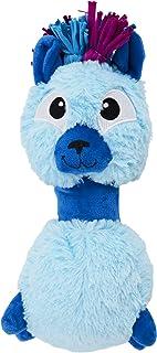 Outward Hound Braidy Budz Blue Llama Dog Toy - Cozy Plush Outside With Twisted Braided Jersey Inside, Small